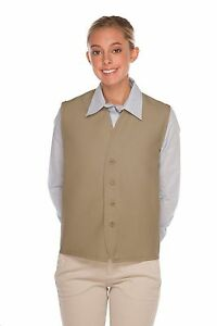 Daystar-Aprons-1-Style-740NP-BTN-No-Pocket-4-Button-Vest-Uniform-Made-in-USA