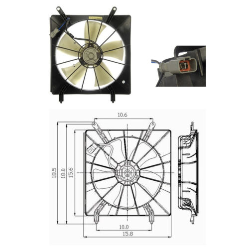 2002-2006 Honda CRV CR-V L4 2.4L Fits Radiator Fan Cooling fan Assembly
