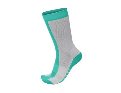 2019 Classe Cycling Socks Blue//White Medium Height by Santini Made in Italy