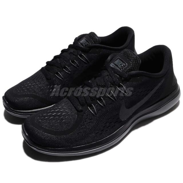 deb976f64c91 Nike Flex 2017 RN Mens Black Lightweight Flexible Running Shoes 7 ...