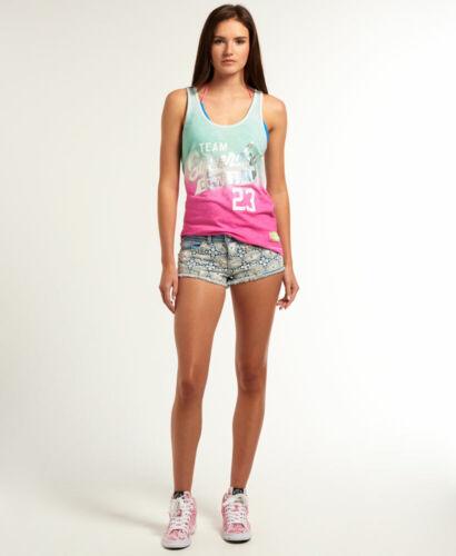 Haut Femme Superdry Premium contraste dentelle ornée Hot Shorts