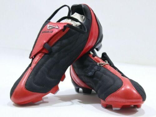 Nomis la perle noire ferme sol humide Control Rétro Chaussures De Football Noir//Rouge