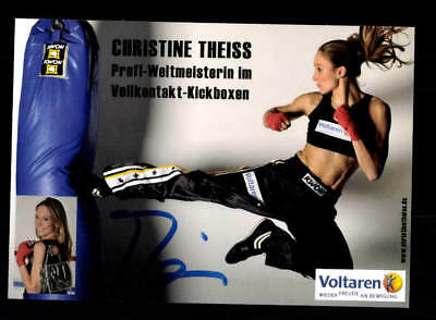 Christine Theiss Autogrammkarte Original Signiert Boxen A 211083