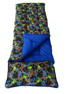 official photos 52c29 e4584 Details about Sunncamp Junior Kids Sleeping Bag Bugs Design With Pillow +  Stuff Sac
