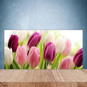 Tulup Kitchen Splashback 100x50 Tempered Glass Flowers Floral