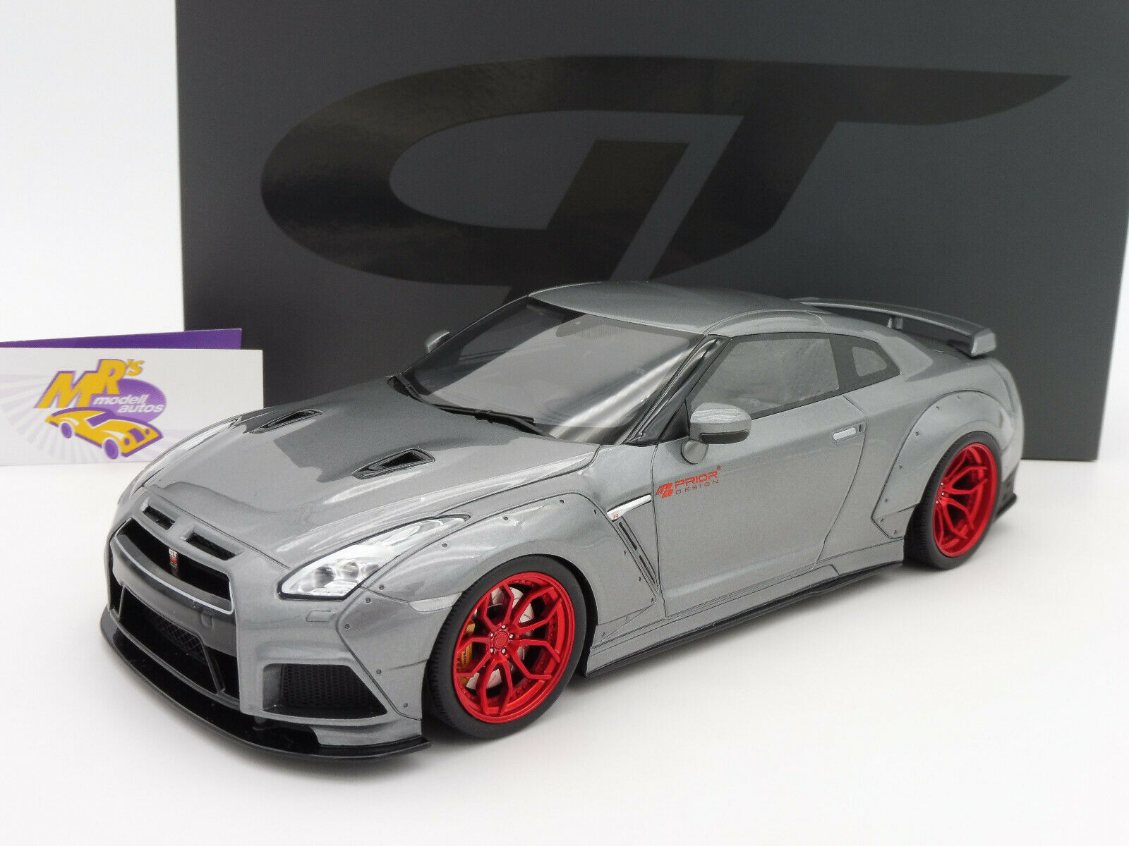 GT SPIRIT gt243   NISSAN GT-R r35 Prior-DESIGN Année de construction 2015 in  grismetallic  1 18