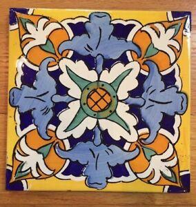 Image Is Loading Vintage Spanish Tile Bright Colors Fl Design 7
