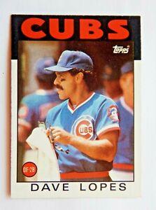 Dave Lopes 1986 Topps #125 Baseball Card (Chicago Cubs) VG