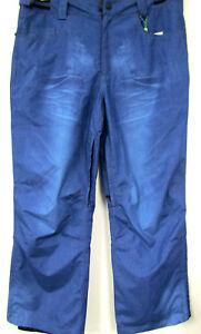 Neu-Herren-Marken-Ski-Snowbord-Hose-Jeansoptik-verstellbar-blau-blue-grosse-Gr-XL