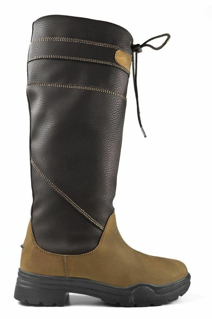 Brogini Derbyshire Ladies Outdoor Walking Horse Riding Leather Mix County Boot