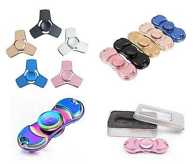Acquista A Buon Mercato Alluminio Metallo Fidget Spinner 2 & 3 Ala Spinner Edc Adht Giocattolo Di Stress Regno Unito In Scatola-mostra Il Titolo Originale Bello A Colori