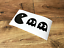 PACMAN RETRO ARCADE STICKERS STICKY DECALS WALL TOY BOX CAR VAN BUMPER LAPTOP