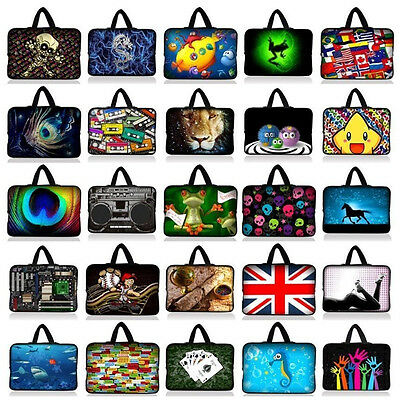 """Many Designs 15"""" Inch 15.4"""" 15.5"""" 15.6"""" Laptop Soft Bag Handle Sleeve Case Cover"""