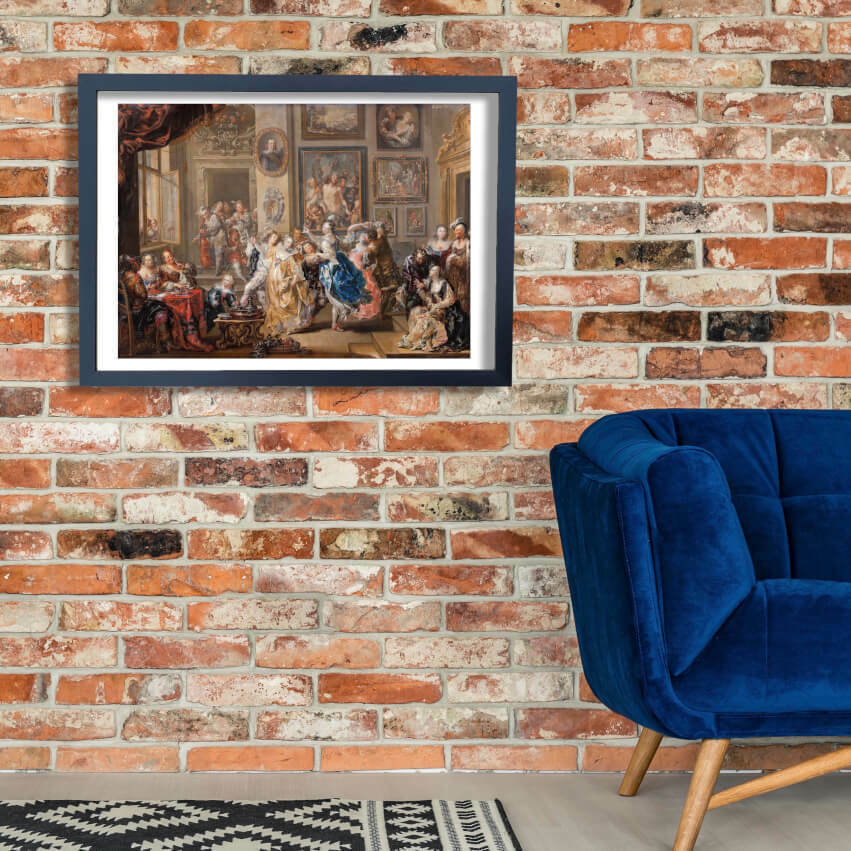 Johann Georg Platzer - Dancing scene with palace interior Wall Art Poster Print