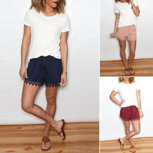 Image is loading Fashion-Womens-Chiffon-Pants-Ladies-Summer-Casual-Shorts- 82cda7325773