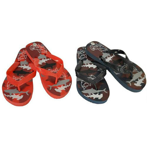 KIDS BOYS,GIRLS SHARK  PRINT FLIP FLOPS NEW