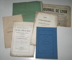RARE-ENSEMBLE-DE-BROCHURES-ELEVAGE-DU-VER-A-SOIE-LES-SOYEUX-LYONNAIS-1850