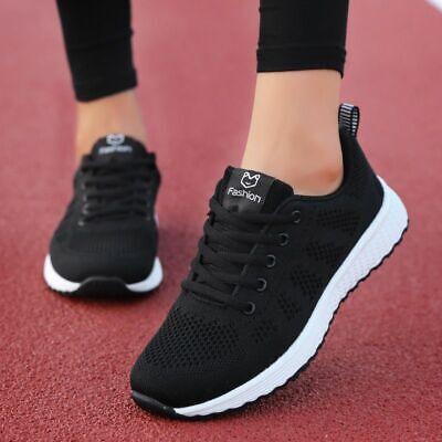 Zapatos Para Correr Zapatillas De Tenis De Moda Zapatos Transpirables Para  Mujer | eBay