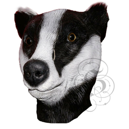 Animale in lattice Badger Testa Maschera Festa-Woodland Halloween Gallina Festa di Addio al Celibato sostegni