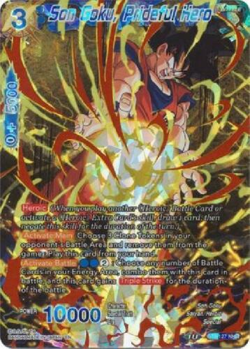 Son Goku Noble Hero Rare Near Mint Dragonball BT8-127 Prideful Hero