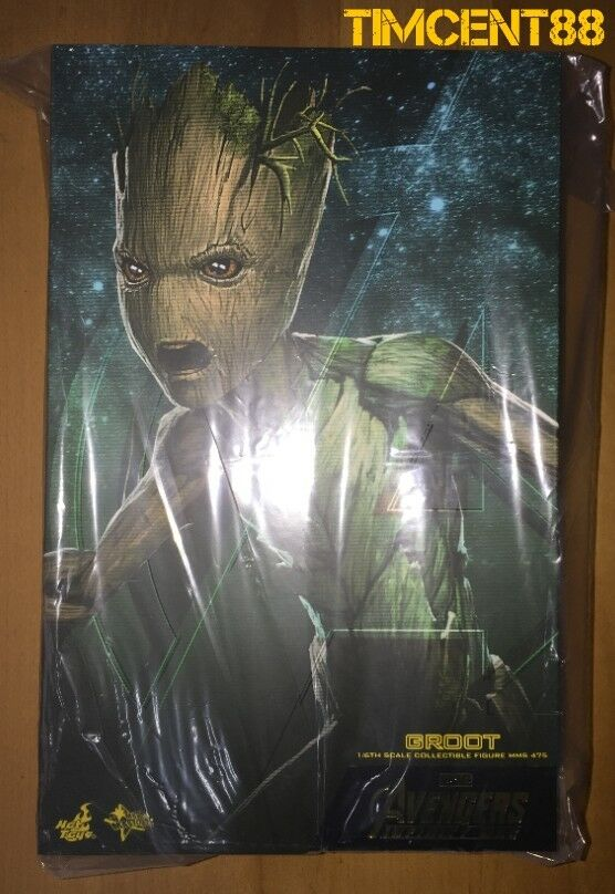 Ready Hot Toys MMS475 Avengers: Infinity War 1/6 Groot Figure
