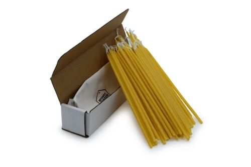 """50 Handmade 100/% Beeswax Taper Candles Natural Beeswax 6/"""" Inch"""