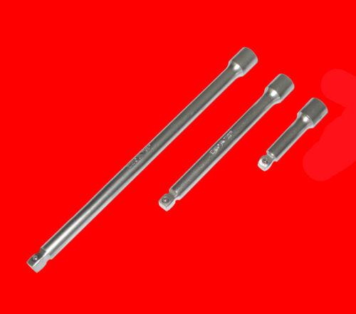 """3 pzas vaso kipp prórroga set 3//8/"""" pulg propulsión 75-150-250mm largo"""