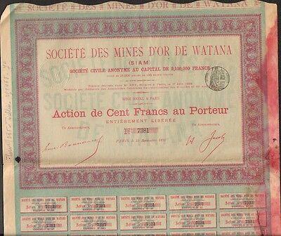 Mines d/'OR de WATANA Q SIAM