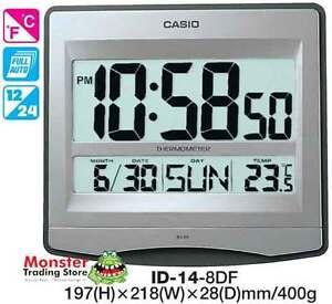 CASIO-WALL-CLOCK-ID-14-8D-ID14-TEMPERATURE-12-MONTH-WARRANTY