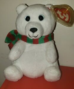 Ty Beanie Baby - SNOWDROP the Holiday Polar Bear (6 Inch) MINT with MINT TAGS