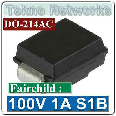 100V 1A DO-214AC Recitifier Diodes S1B Fairchild 20pcs