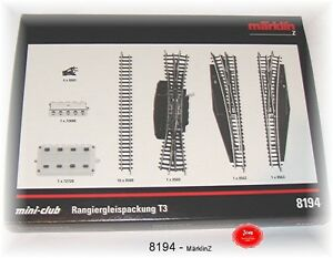 Märklin 8194 Rangiergleispackung T3 # Neuf Emballage D'origine
