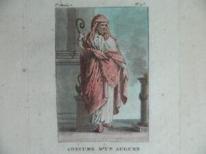 Gravur Farbig Kostüm Eines Omen Bei Die Römische Janinet XVIII 1788