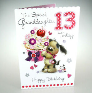 Image Is Loading To A Special Granddaughter 13 Today Happy Birthday