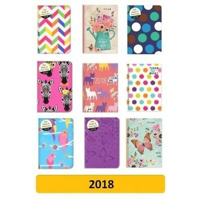 Week To View Considerate 2018 Pocket Diary/diaries Design/patterns 3 school/organiser