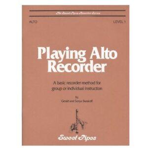 DéVoué Rhythm Band Instruments Sp2351 Jouer Alto Recorder Book-afficher Le Titre D'origine