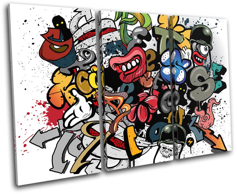 Grafitti Art  Illustration TREBLE Leinwand Wand Kunst Bild drucken