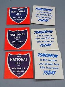 Vintage-Lotto-di-Nazionale-Life-Assicurazione-Ago-Libro-Aghi-Pubblicita-Scheda