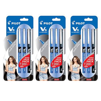 Pilot V5 Pen  (2 Blue + 1 Black) (set of  3) :9000014711