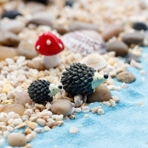 2 Satz 6x Garten Decor Miniatur Igel Bonsai Harz Ornament Figur PflanzeAB