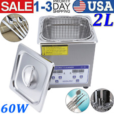 2l Ultrasonic Cleaner Dental Lab Glasses Digital Timed Heater Cleaning Machine