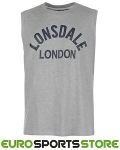 27d47110770 Image is loading Lonsdale-Mens-Boxing-Tank-Vest-Sleeveless-T-Shirt-