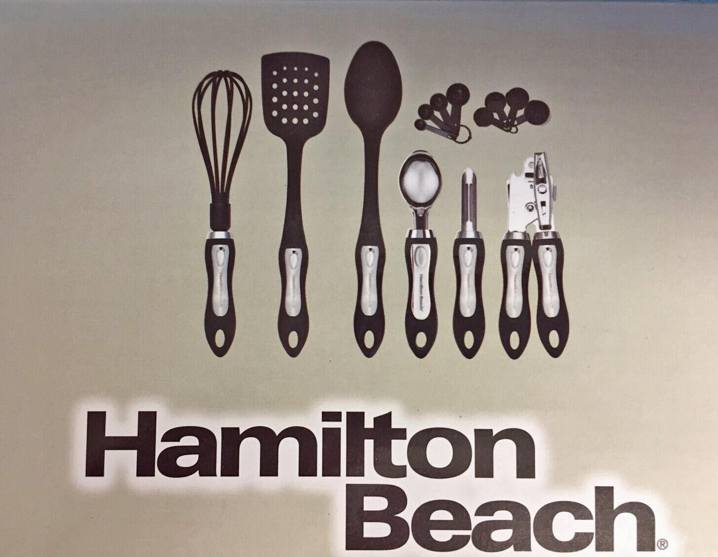 Black Hamilton Beach Kitchen 6 Piece Soft Touch Handle Cooking Utensil Set
