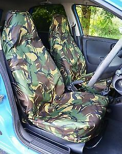CAMOUFLAGE VAN SEAT COVERS 2 SINGLE 1+1 08+ Fiat Fiorino VAN