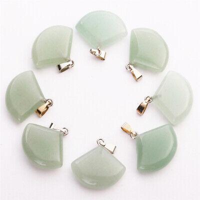 Wholesale Natural 50pcs Lot Charms Opal Stone Beads Pendants Sector Shape