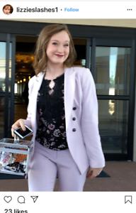 White House Black Market Trophy jacket blazer Pale Wisteria Light pink4,2,12,0,6