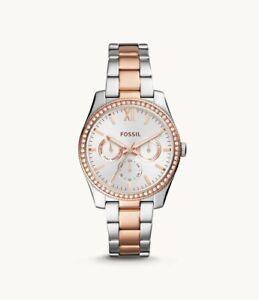 "NIB* Beautiful ""Scarlette"" Fossil watch with cool box ES4373"