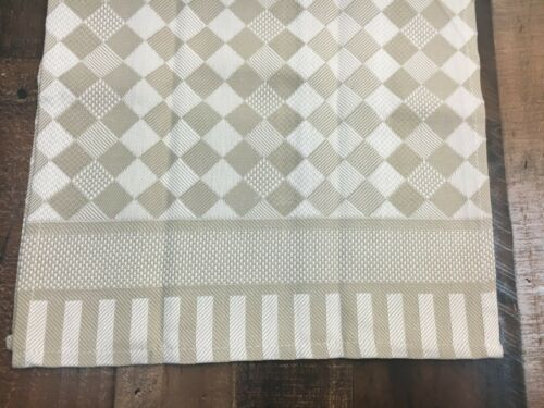 Checker Board Kitchen Towel 100/% Cotton 11 Count Cross Stitch Blue Pink Taupe