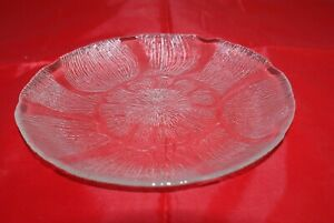 "Arcoroc Clear Glass 7.75"" Salad Plates Floral Etched Design Catering Lot of 6"