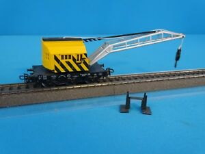 Marklin-4671-DB-Crane-Car-Yellow-Black